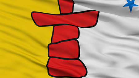 Nunavut City Flag, Country Canada, Closeup View