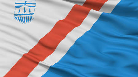 St Albert City Flag, Country Canada, Alberta, Closeup View Stock Photo