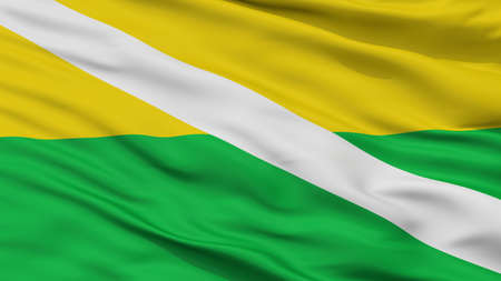 Chiriguana City Flag, Country Colombia, Cesar Department, Closeup View