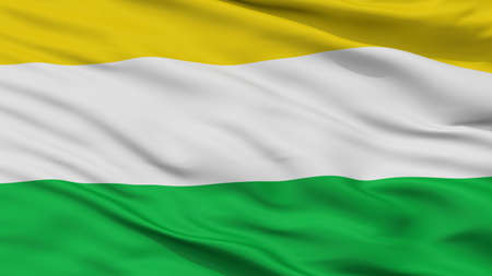 Gamarra City Flag, Country Colombia, Cesar Department, Closeup View