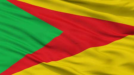 Paz De Ariporo City Flag, Country Colombia, Casanare Department, Closeup View