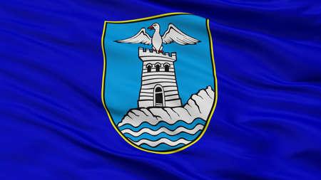 Opatije City Flag, Country Croatia, Closeup View Standard-Bild