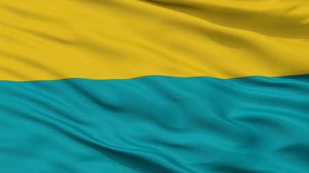 Narva City Flag, Country Estonia, Closeup View