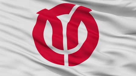 Isehara City Flag, Country Japan, Kanagawa Prefecture, Closeup View