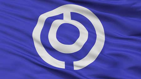 Ishigaki City Flag, Country Japan, Okinawa Prefecture, Closeup View