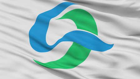 Kesennuma City Flag, Country Japan, Miyagi Prefecture, Closeup View Banque d'images