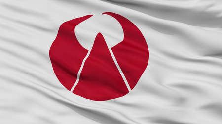 Ogori City Flag, Country Japan, Fukuoka Prefecture, Closeup View Banque d'images