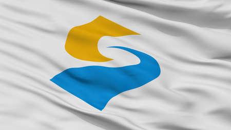 Sado City Flag, Country Japan, Niigata Prefecture, Closeup View