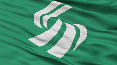 Shimada City Flag, Country Japan, Shizuoka Prefecture, Closeup View