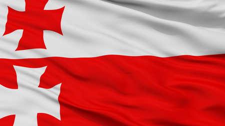 Elblag City Flag, Country Poland, Closeup View