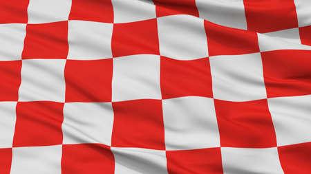 Glogow City Flag, Country Poland, Closeup View