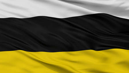 Tarnowskie Gory City Flag, Country Poland, Closeup View