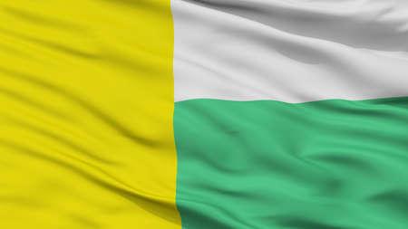 Zielona Gora City Flag, Country Poland, Closeup View