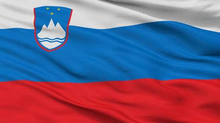 Slovenia City Flag, Country Slovenia, Closeup View Stock Photo