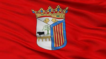 Salamanca City Flag, Country Spain, Closeup View