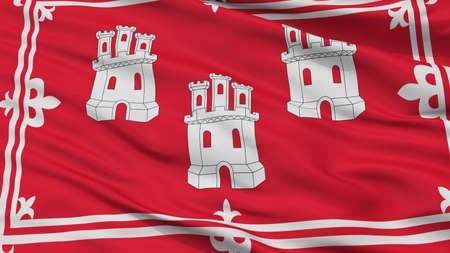 Aberdeen City Flag, Country Uk, Closeup View