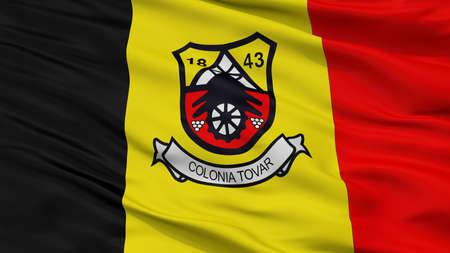 Colonia Tovar City Flag, Country Venezuela, Closeup View Imagens