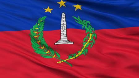 S Bolivar City Flag, Country Venezuela, Closeup View