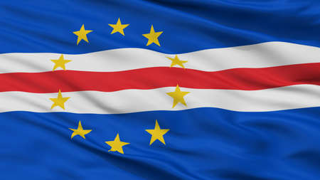 Cape Verde Flag, Closeup View, 3D Rendering