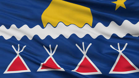 Native Americans Tribe Indian Flag, Closeup View, 3D Rendering