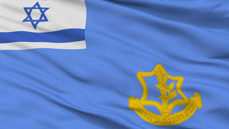 Israel Defense Forces Flag, Closeup View, 3D Rendering