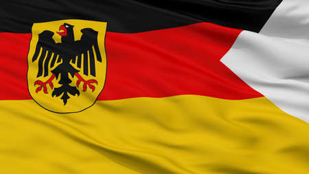 Germany Naval Ensign Flag, Closeup View, 3D Rendering Standard-Bild - 108071126