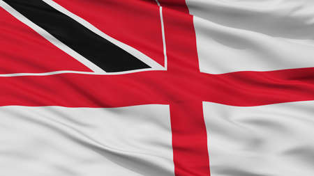 Trinidad And Tobago Naval Ensign Flag, Closeup View, 3D Rendering Stock Photo
