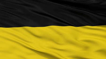 Habsburg Monarchy Flag, Closeup View, 3D Rendering