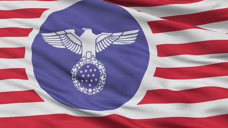 USA Nazi Flag, Closeup View, 3D Rendering