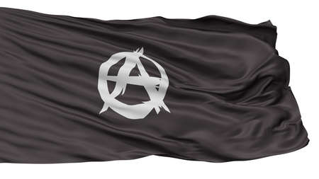 Anarchist Movement Flag, Isolated On White Background, 3D Rendering Stock Photo