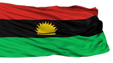 Biafra Flag, Isolated On White Background, 3D Rendering