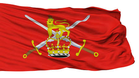 British Army Flag, Isolated On White Background, 3D Rendering Stock Photo