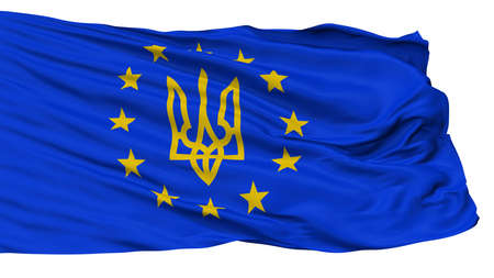 Euromaidan Protests Flag, Isolated On White Background, 3D Rendering