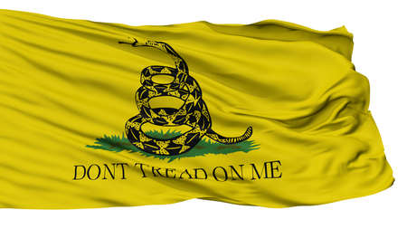 Gadsden Flag, Isolated On White Background, 3D Rendering