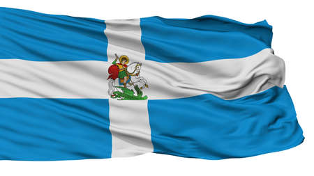 Hellenic Army War Flag, Isolated On White Background, 3D Rendering Stock Photo