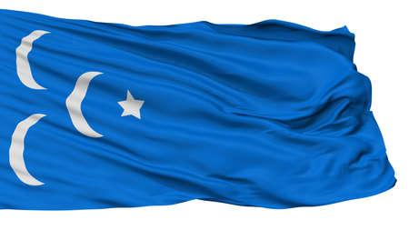 Ibda Great Eastern Islamic Raiders Flag, Isolated On White Background, 3D Rendering
