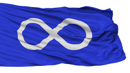 Metis Blue Indian Flag, Isolated On White Background, 3D Rendering Stock Photo