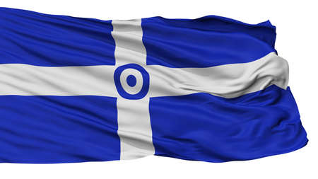 Hellenic Air Force 1973 1978 Flag, Isolated On White Background, 3D Rendering Stock Photo