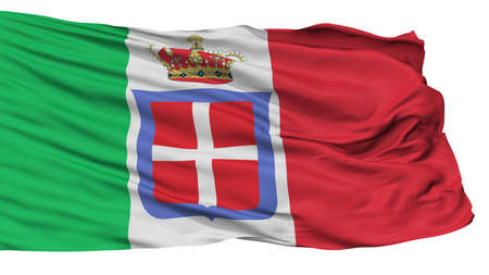 Italian Monarchy Flag, Isolated On White Background, 3D Rendering