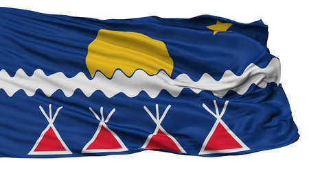 Native Americans Tribe Indian Flag, Isolated On White Background, 3D Rendering