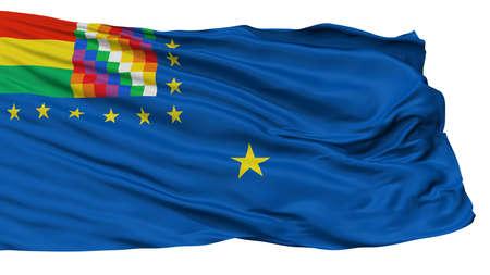Bolivia Naval Ensign Flag, Isolated On White Background, 3D Rendering Reklamní fotografie