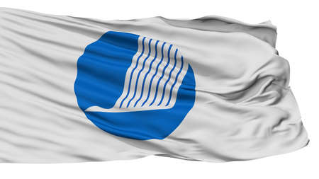 Nordic Council Flag, Isolated On White Background, 3D Rendering
