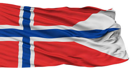 Norway State Flag, Isolated On White Background, 3D Rendering