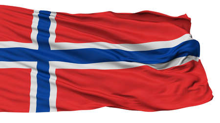 Norway Flag, Isolated On White Background, 3D Rendering