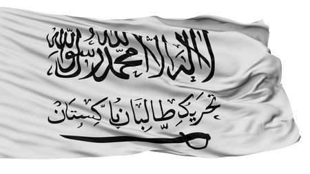 Tehrik I Taliban Flag, Isolated On White Background, 3D Rendering Banco de Imagens