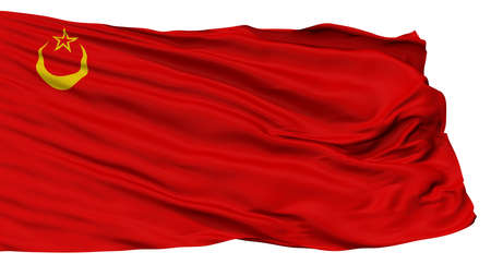 Union Of Islamic Soviet Republics Flag, Isolated On White Background, 3D Rendering Stock Photo