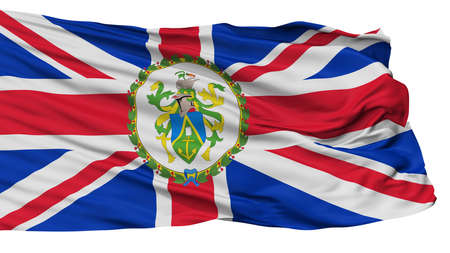 Governor Of Pitcairn Islands Flag, Isolated On White Background, 3D Rendering Stock fotó