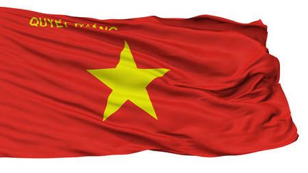 Peoples Army Of Vietnam Flag, Isolated On White Background, 3D Rendering