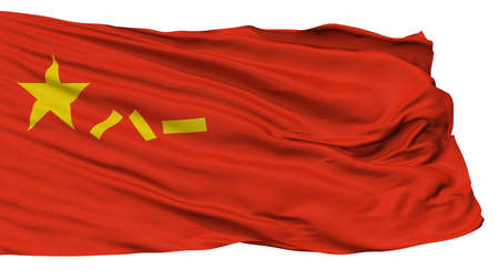 Peoples Liberation Army Peoples Republic Of China Flag, Isolated On White Background, 3D Rendering