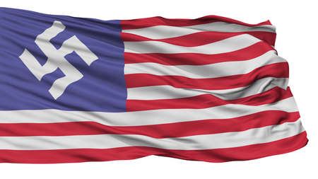Man In High Castle Flag, Isolated On White Background, 3D Rendering Stock Photo